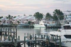 Skatt Cay Resort Bay på större Abaco, Bahamas arkivbilder