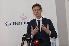SKATT FÖR KARSTEN LAURITZEN_MINISTER OCH REVUNE Royaltyfri Bild