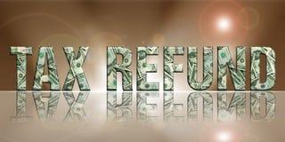 skatt refund4 Arkivfoton