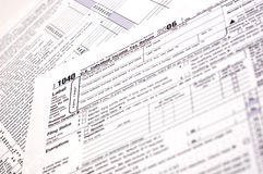 skatt USA för 1040 datalista Arkivbild