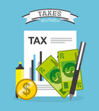 Skattbetalning Fotografering för Bildbyråer