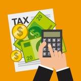 Skattbetalning Arkivbild