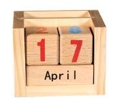 Skattdagen för 2017 retur är April 17, 2018 Royaltyfri Fotografi