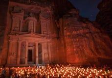 Skatten av Petra, Jordanien arkivbild