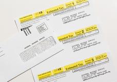 Skattform 1040-ES för USA IRS Royaltyfri Fotografi