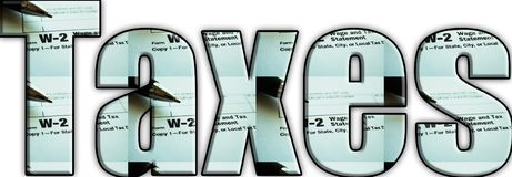 SkattLogo With White Background High kvalitet Arkivbild