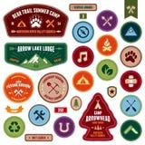 Skautowskie odznaki Zdjęcie Royalty Free