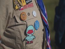 Skautowskie odznaki na koszula zbiory wideo