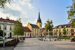 Skawina City in Poland. Royalty Free Stock Images
