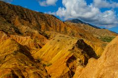 Skazka童话峡谷在Kirgyzstan 免版税库存照片