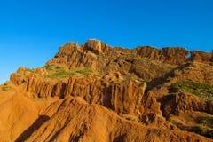 Skazka童话峡谷在Kirgyzstan 库存图片