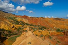 Skazka童话峡谷在Kirgyzstan 图库摄影
