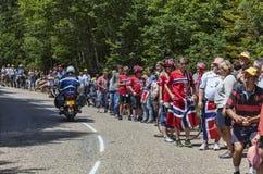 Åskådare av Le-Tour de France Royaltyfria Bilder