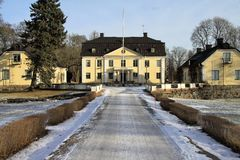 Skebo bruk. Swedish castle Skebo bruk, Sweden Royalty Free Stock Photos