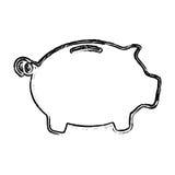 Skech piggy bank money Stock Images