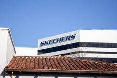 Skechers sedia o sinal da construção foto de stock royalty free