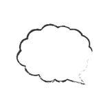 Skecth bubble speech cloud Stock Photo
