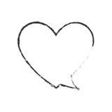 Skecth bubble speech heart shape Royalty Free Stock Photos