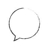 Skecth bubble speech round Royalty Free Stock Photos