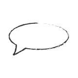 Skecth bubble speech talk Stock Image