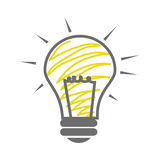 Skecth of light bulb icon Stock Photography