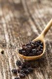 Sked av barberryen på en träbakgrund Royaltyfri Fotografi