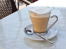 sked för kaffekopp Fotografering för Bildbyråer