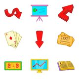 Sked icons set, cartoon style Stock Images