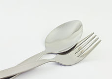 Sked och gaffel arkivfoton