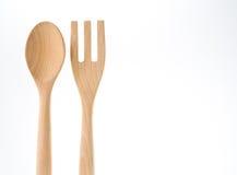 Sked och gaffel med vit bakgrund arkivbild