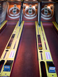 Skee Ball. Midway carnival Skeeball bowling amusement game at an arcade Royalty Free Stock Photos
