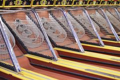 Skee Ball Arcade Game Amusement Park Background stock photography