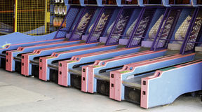 Skee Ball. Machines at an game arcade Royalty Free Stock Image
