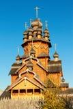 Skeet All Saints. Wooden church in the area Svyatogorsk. Ukraine, Donetsk region Stock Image