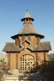 Skeet All Saints. Wooden Western Gate. Ukraine, Donetsk region, Svyatogorsk Royalty Free Stock Photos