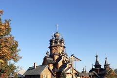 Skeet All Saints. Wooden church in the area Svyatogorsk. Ukraine, Donetsk region Royalty Free Stock Image