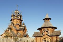 Skeet All Saints. Wooden church in the area Svyatogorsk. Ukraine, Donetsk region Stock Photography