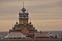 Skeet All Saints. Wooden church in the area Svyatogorsk Stock Photography