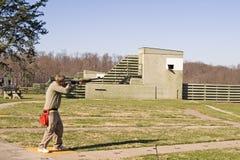 Skeet Shooter II. Skeet shooter photographed at a northern Virginia gun club Royalty Free Stock Photo