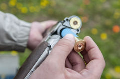 Skeet Shooting. In Denmark with grass background Royalty Free Stock Photography