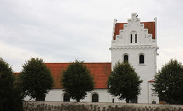 Skegrie Church in the southern Sweden Stock Photography