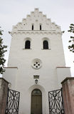 Skegrie Church Tower in the southern Sweden Stock Image
