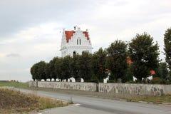 Skegrie kyrka i söderna av Sverige Arkivfoton