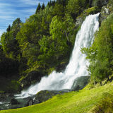 Skeie Waterfall. In Norway, Scandinavia Royalty Free Stock Photos