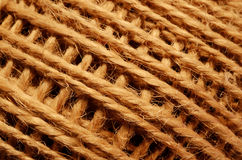 Skein of coarse brown thread Royalty Free Stock Photography