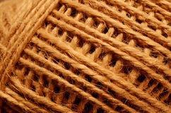 Skein of coarse brown thread Stock Photo