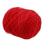 Skein do fio para fazer malha ou das agulhas de crochê no fundo branco Imagens de Stock
