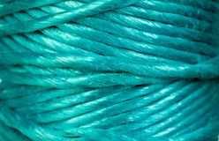 Skein of green rope Stock Photos
