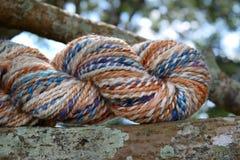 Skein of Hand Spun Yarn Stock Photo