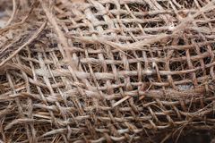 Skein of jute twine. Clew  natural rope. Close up Stock Photography
